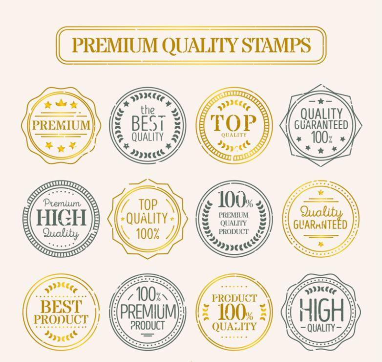 12 Quality Promotion Postmark Vector