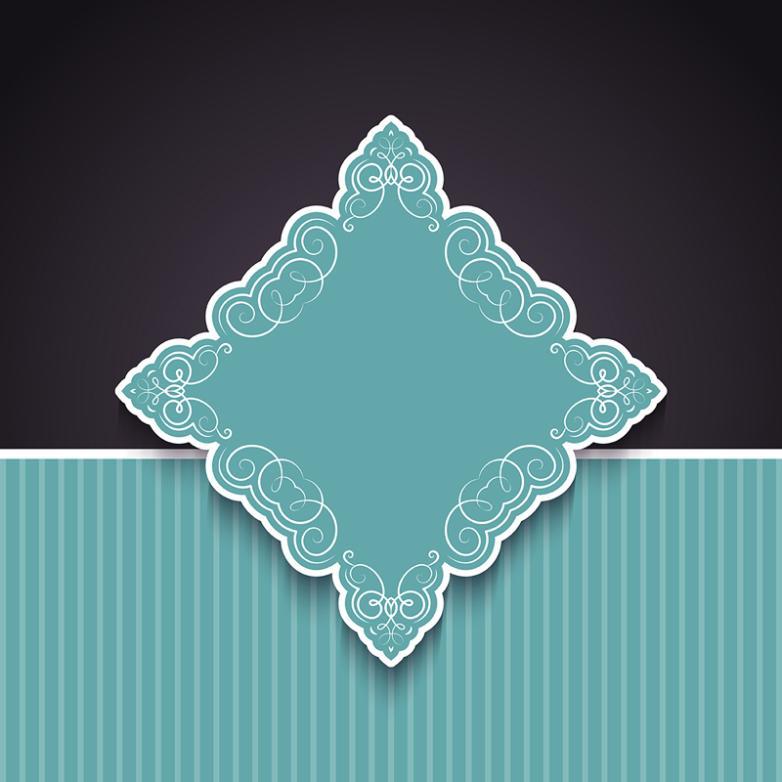 Argyle Label Background Vector
