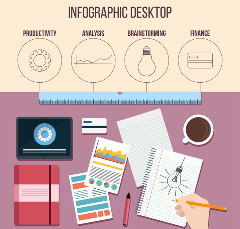 Creative Desktop Information Graph Design Vector