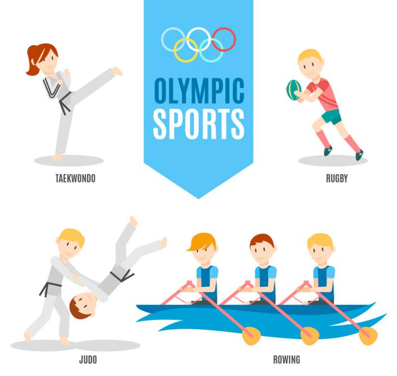 Four Kinds Of Creative Olympic Project Design Vector
