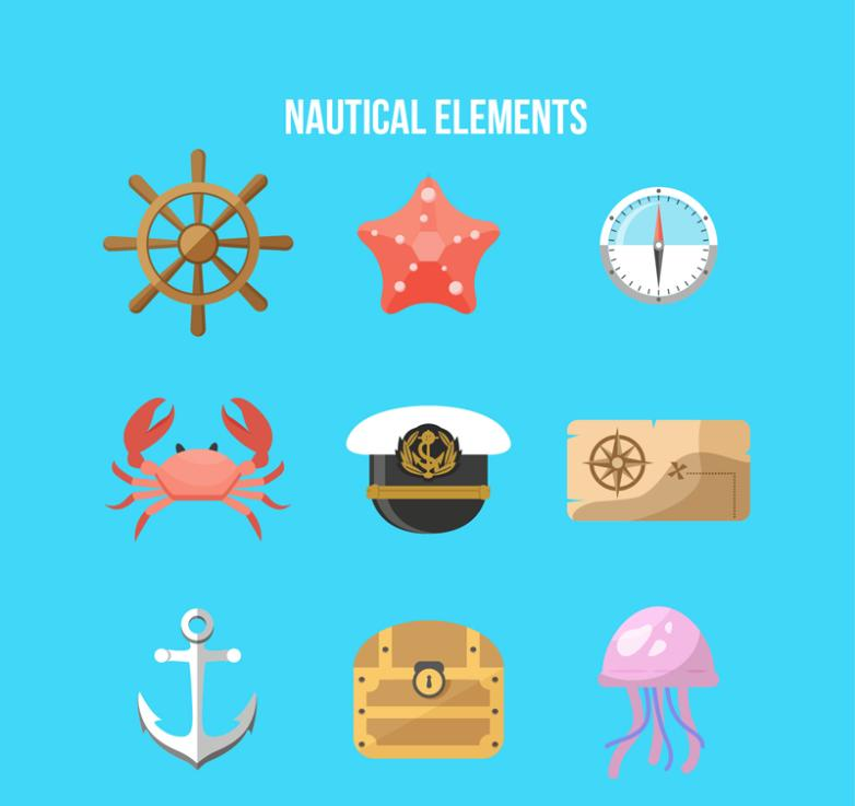 Nine New Color Navigation Elements Vector