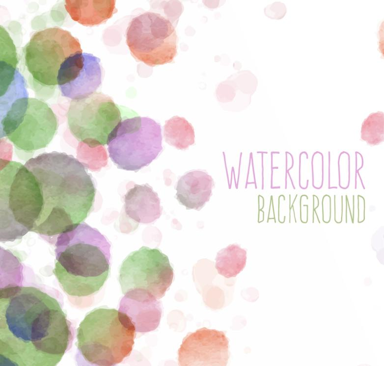 Mixed Color Watercolor Dots Background Vector