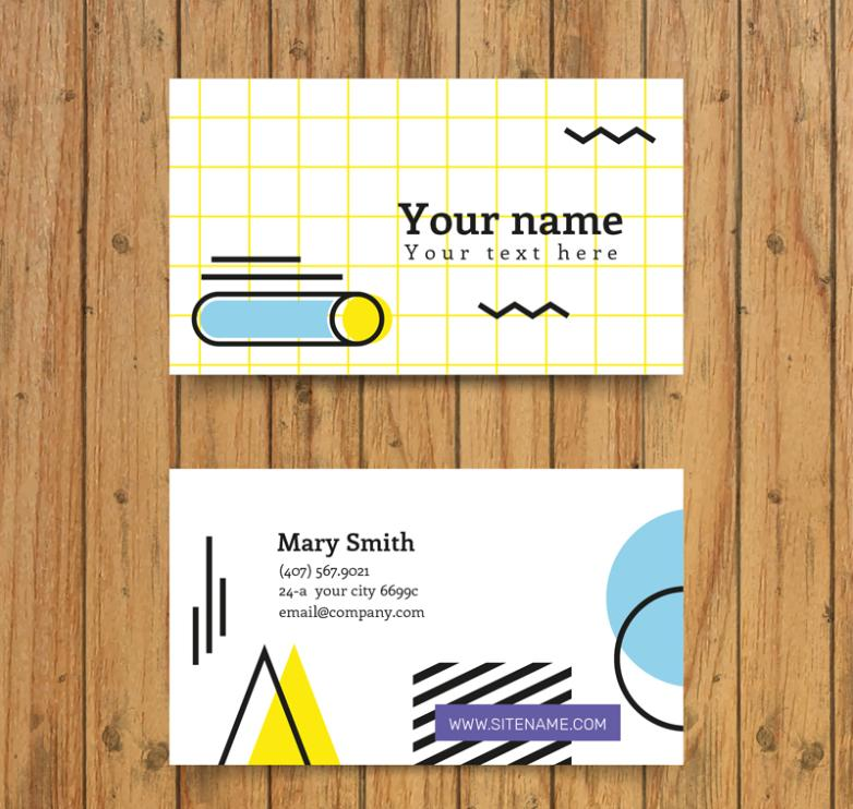 Concise Line Is A Business Card Is Required Vector