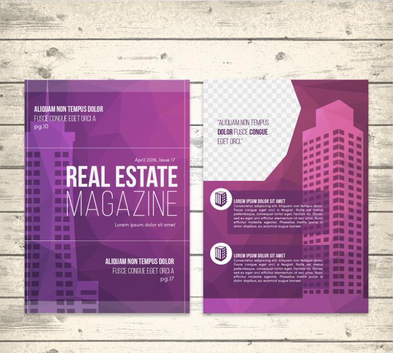 Purple Property Flyer Vector