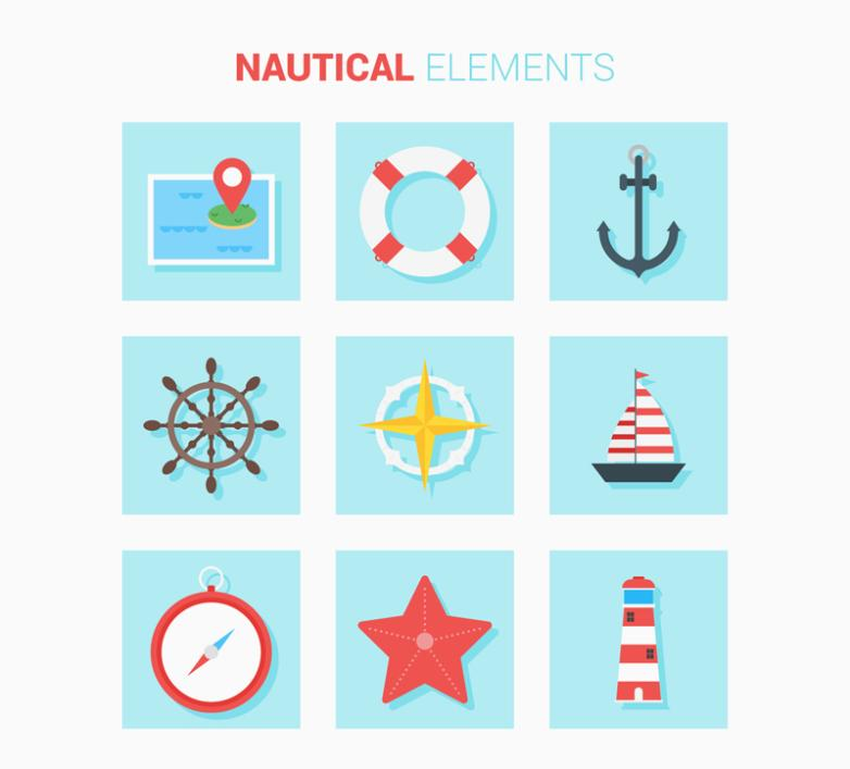 Nine New Delicate Navigation Elements Icon Vector