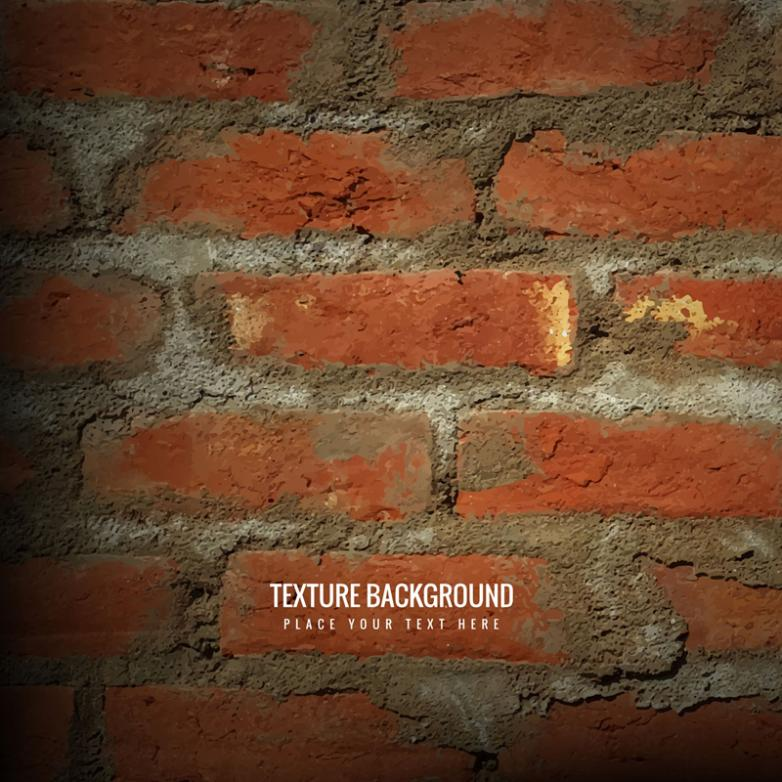Red Square Brick Concrete Background Metope Vector