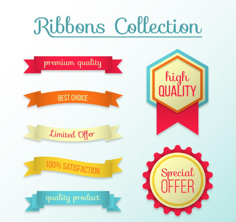 Paragraphs 5 High Quality Banners And 2 Promotion Label Vector
