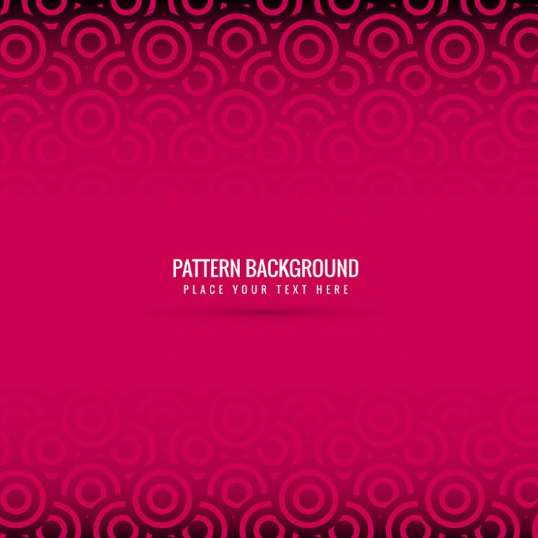 Mei Red Circle Pattern Background Vector