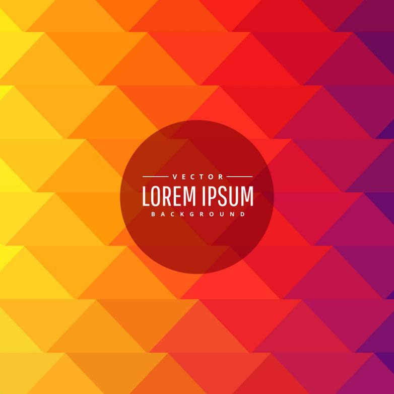 Warm Color Department Background Gradient Of The Triangle Vector