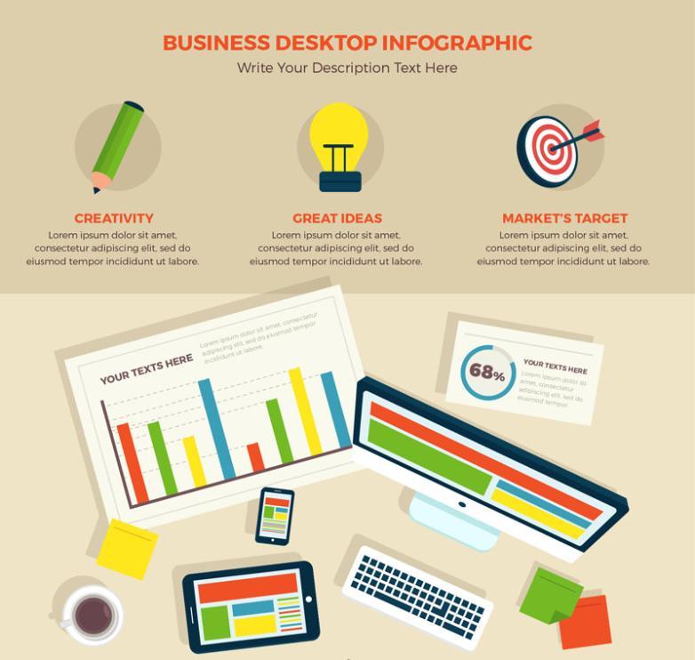 Creative Business Desktop Information Graph Vector