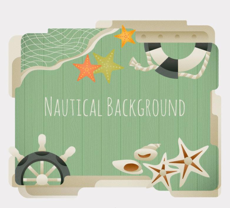 Retro Navigation Element Background Vector