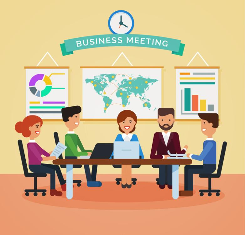 Five Creative Business Meeting Vector