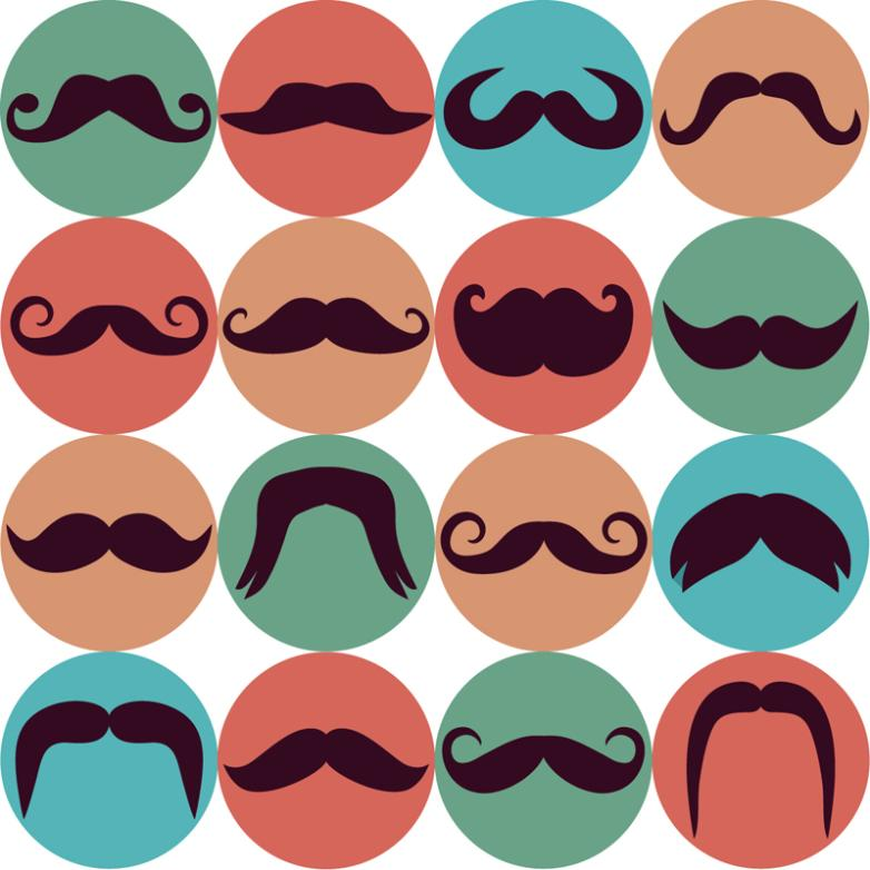 16 Circular Beard Icon Vector
