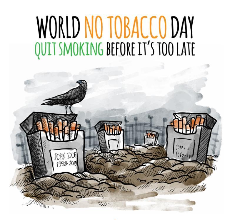 World No Tobacco Day Creative Illustrations Vector