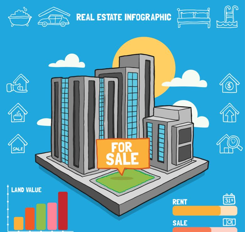 Creative Complex Real Estate Information Vector