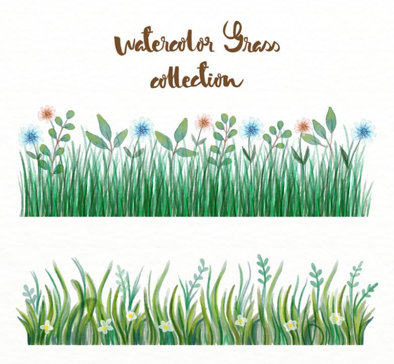 Two Flowers Coloured Drawing Or Pattern Design Vector