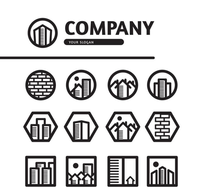 13 Creative Real Estate Company Logo Vector