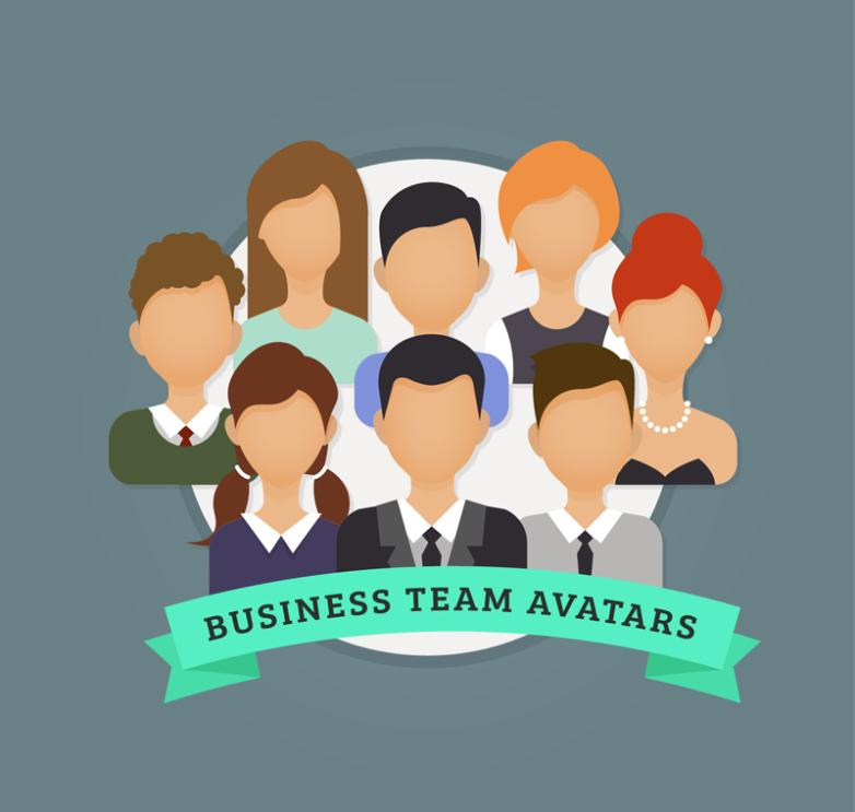 Creative Expressionless Business Team Player Portrait Vector