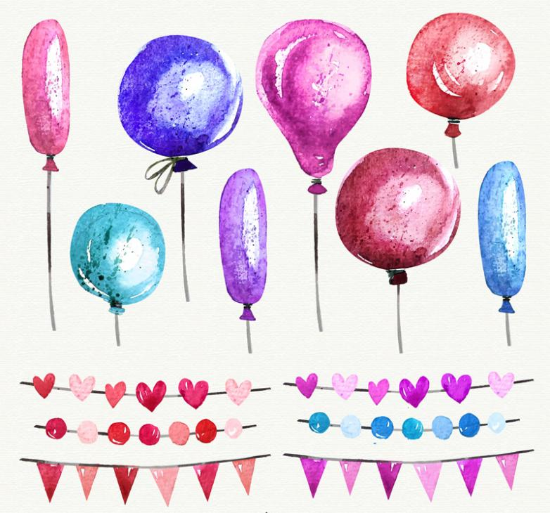 Colorful Balloons And 6 Of Paragraph 8 Holiday Flag Vector