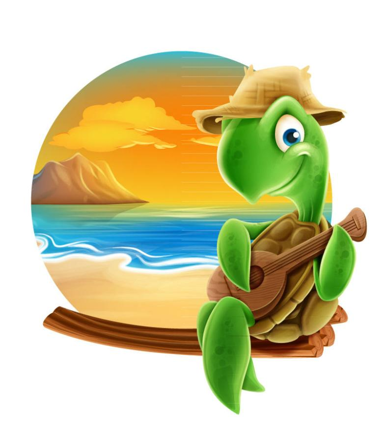 The Summer Beach Play Especially The Turtles In The Kerry Vector
