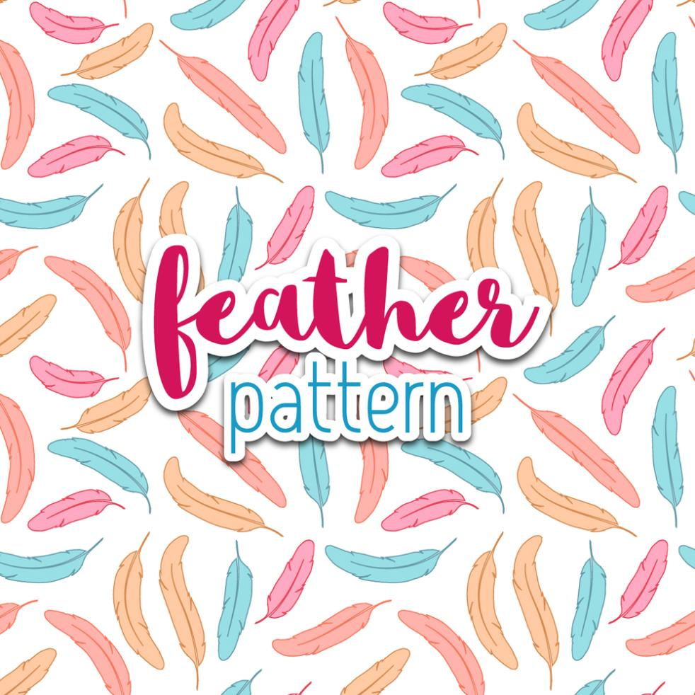 Lovely Color Feathers Seamless Background Vector