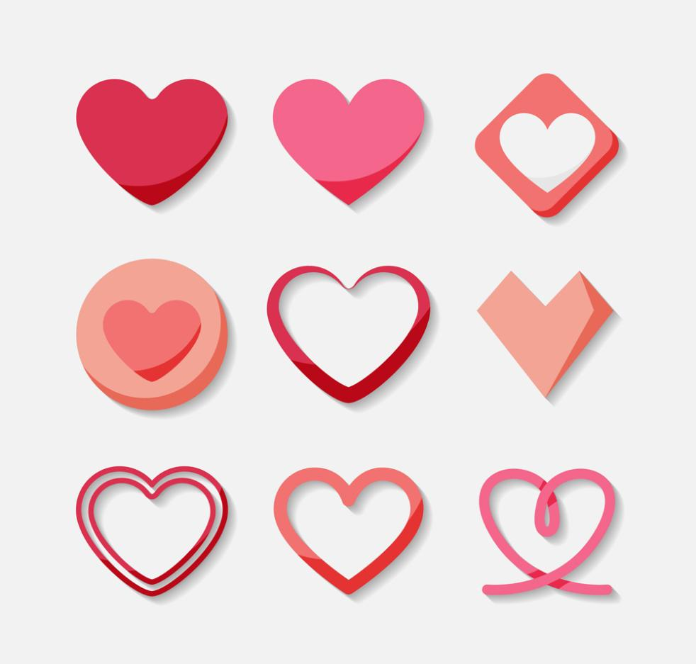 9 Love Creative Design Vector
