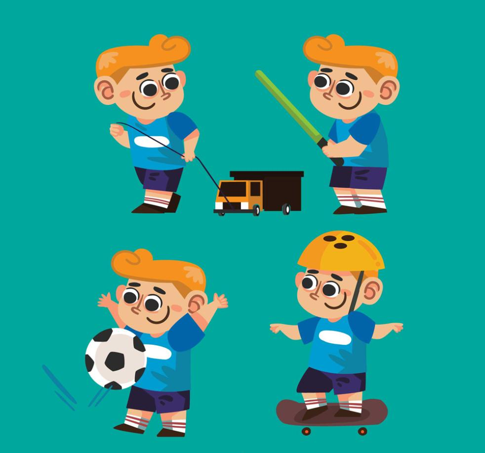 4 Play Blond Boy Vector