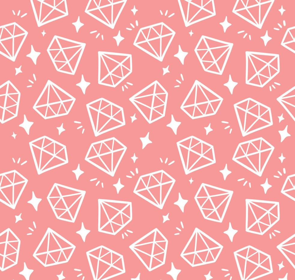 Pink White Diamond Seamless Background Vector