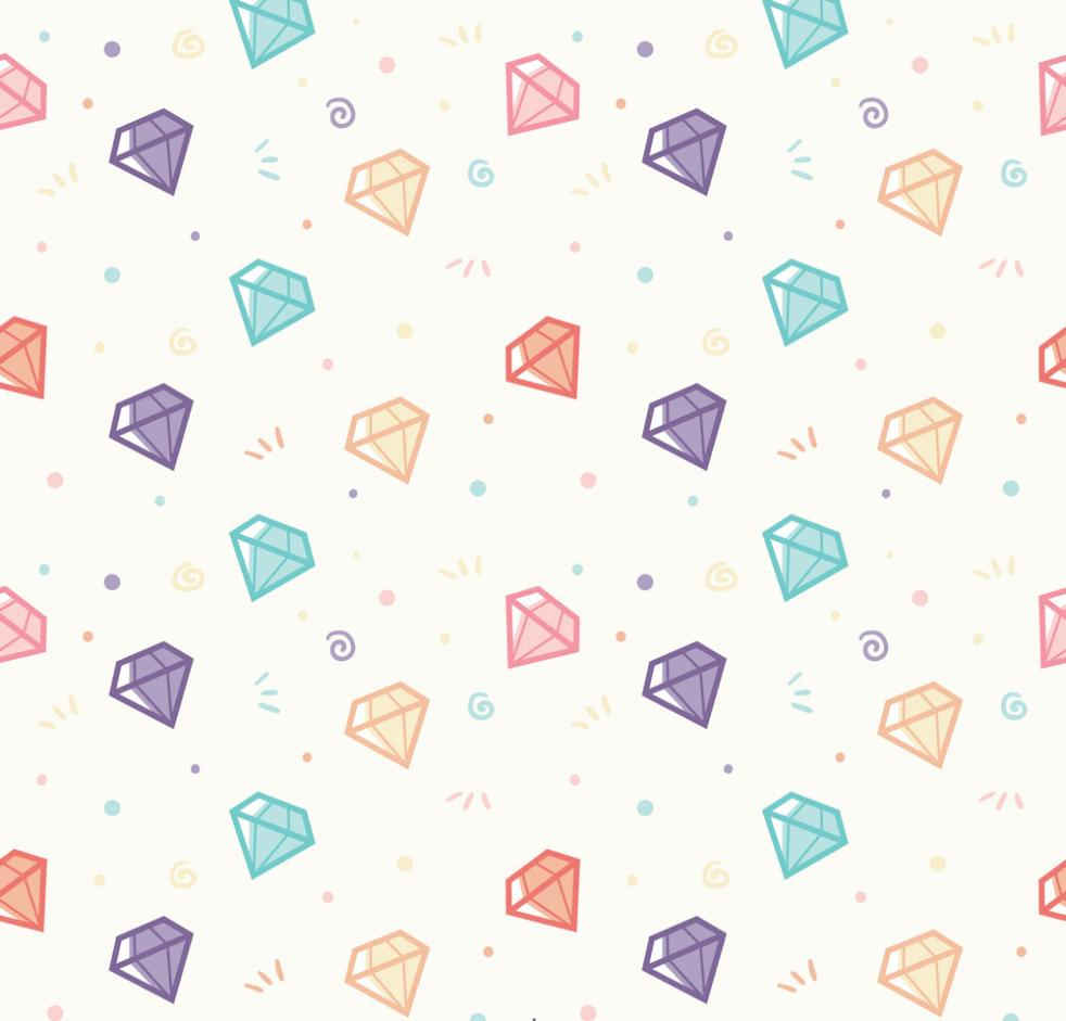 Seamless Background Design Color Diamonds Vector