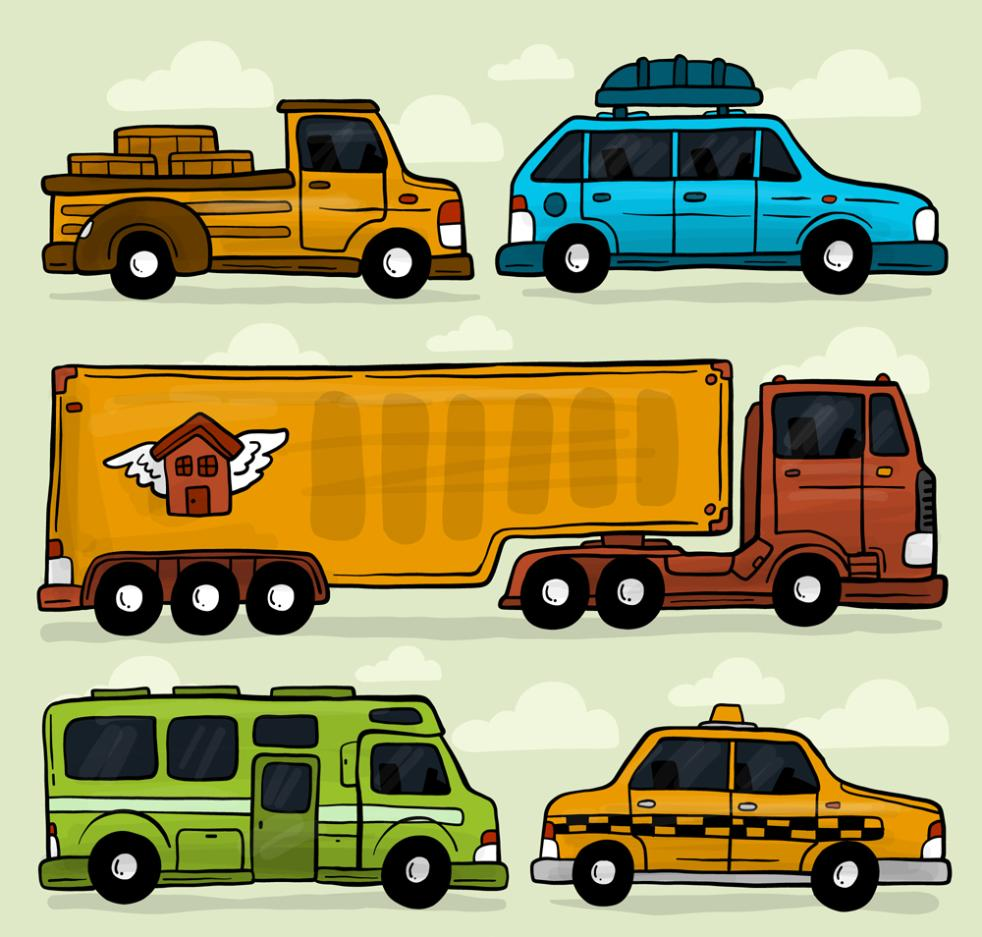 5 Paint Vehicle Design Vector