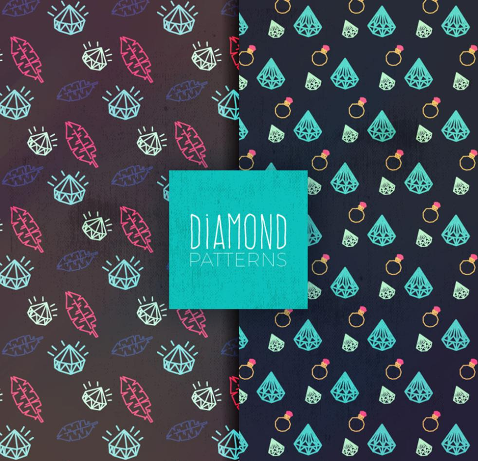 Two Coloured Drawing Or Pattern Diamond Seamless Background Vector