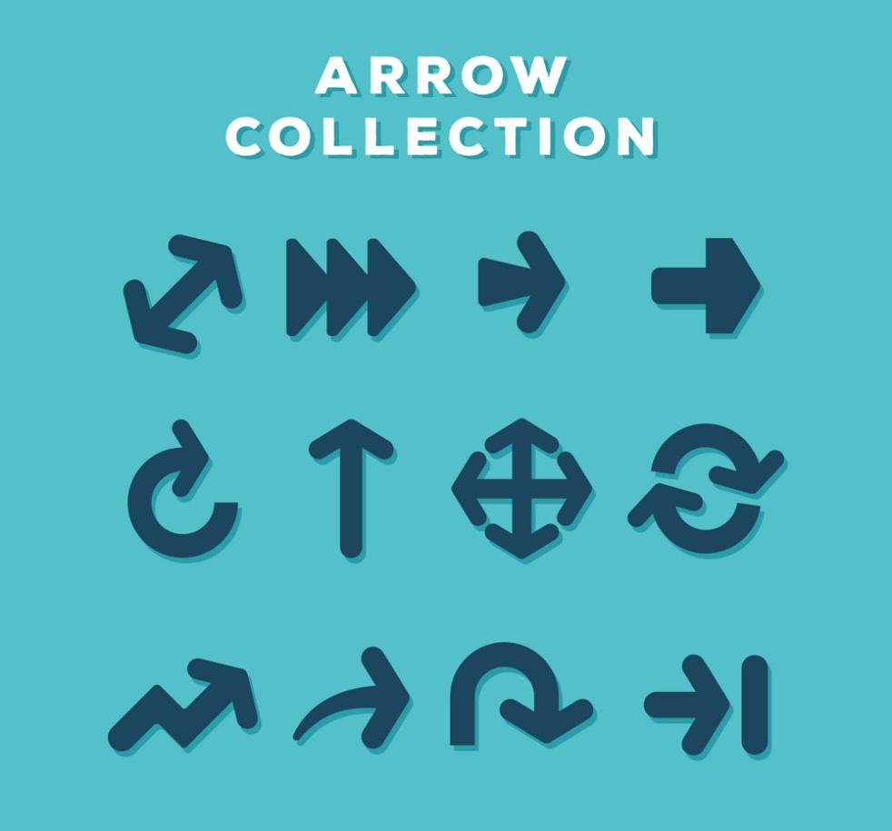 12 Creative Arrow Icon Vector