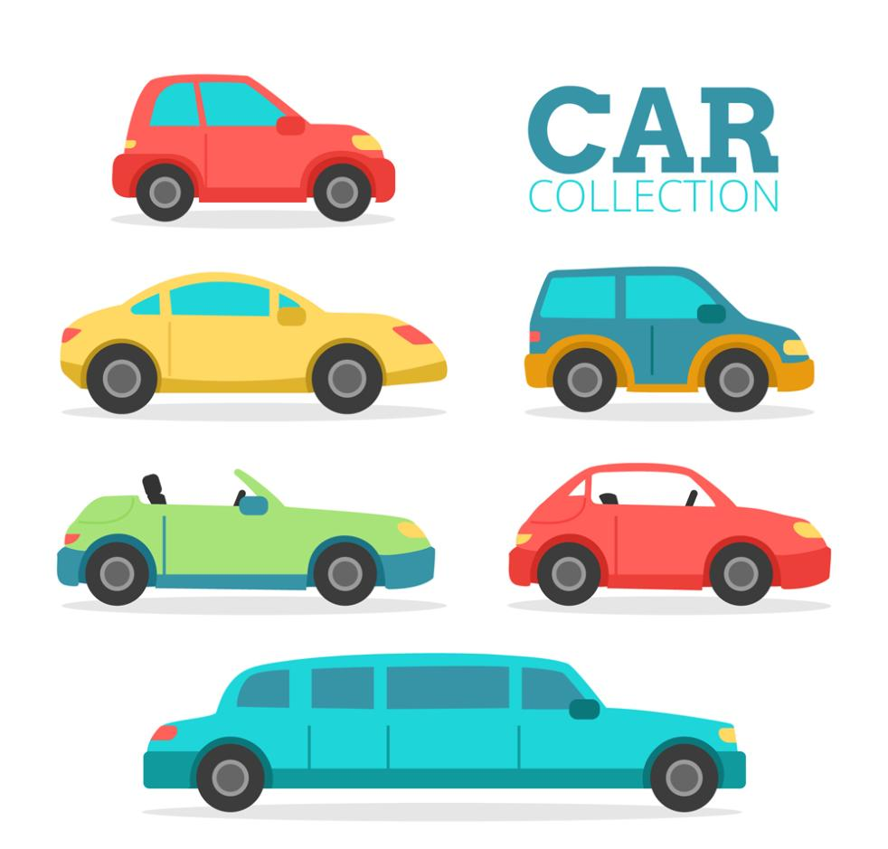 Six Color Vehicle Side Vector