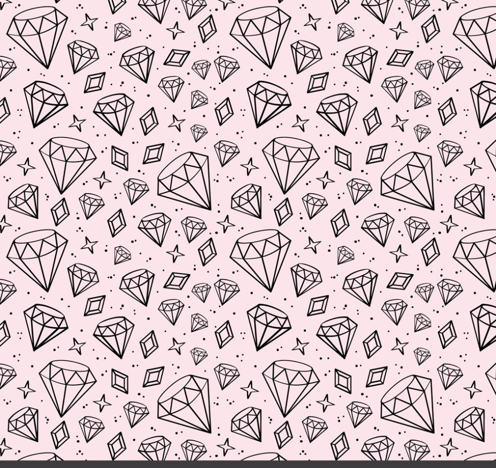 Hand-painted Shining Diamond Seamless Background Vector
