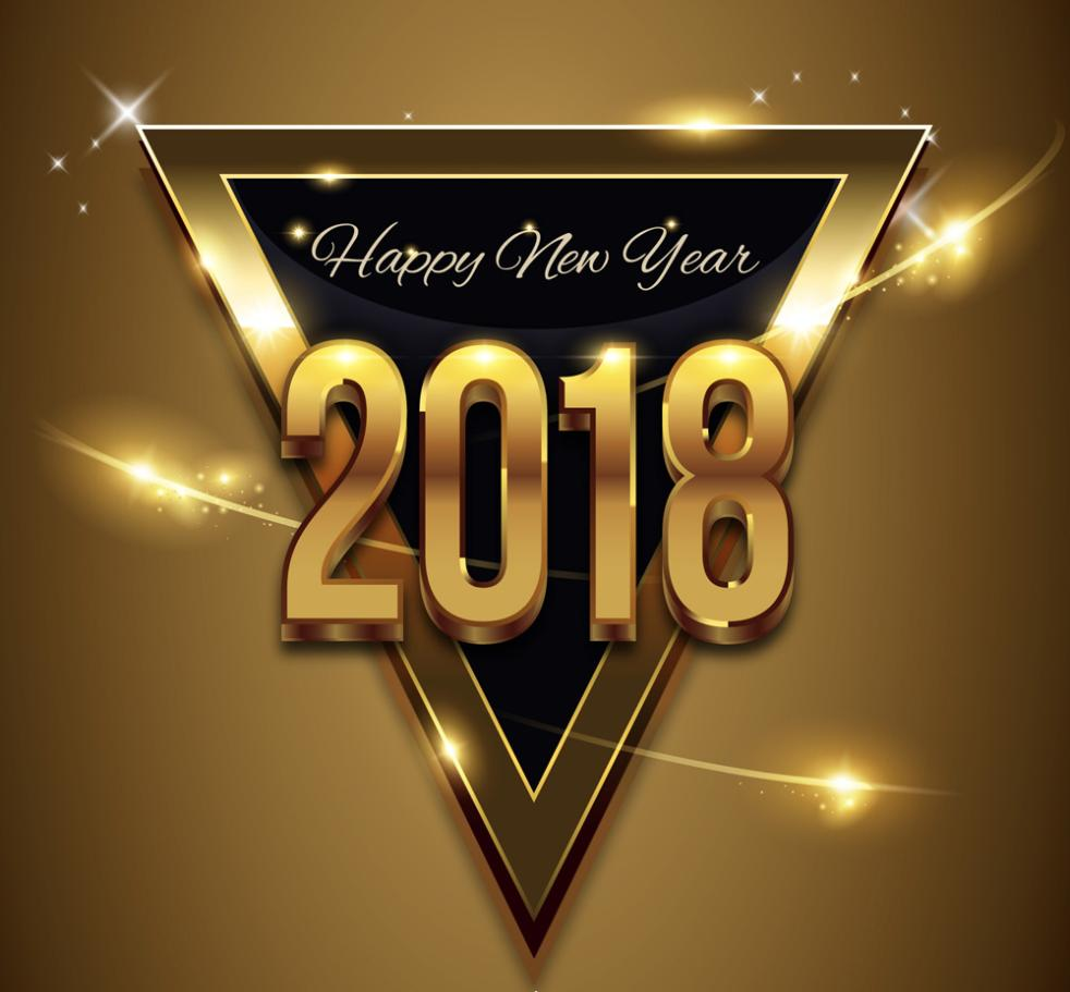 2018 Golden Triangle Greeting Card Vector