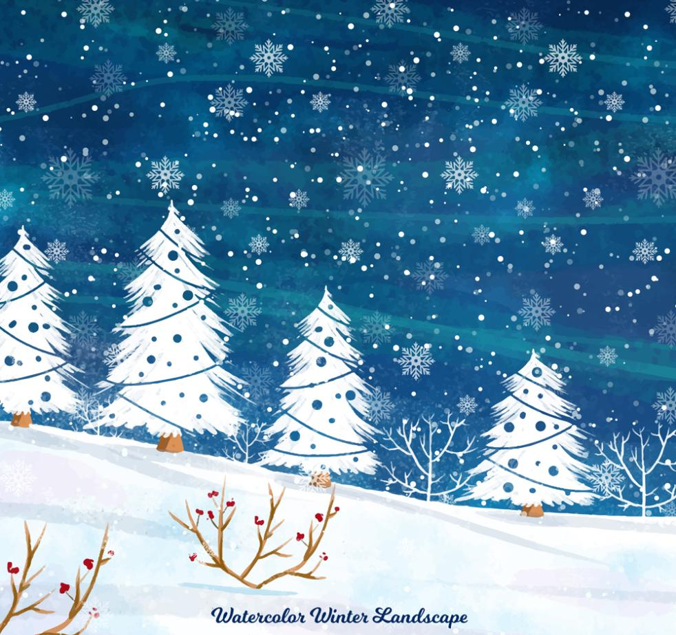 Creative In The Snow Outside Scenery Vector