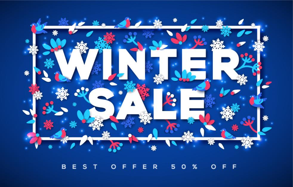 Creative Winter Promotional Poster Vector