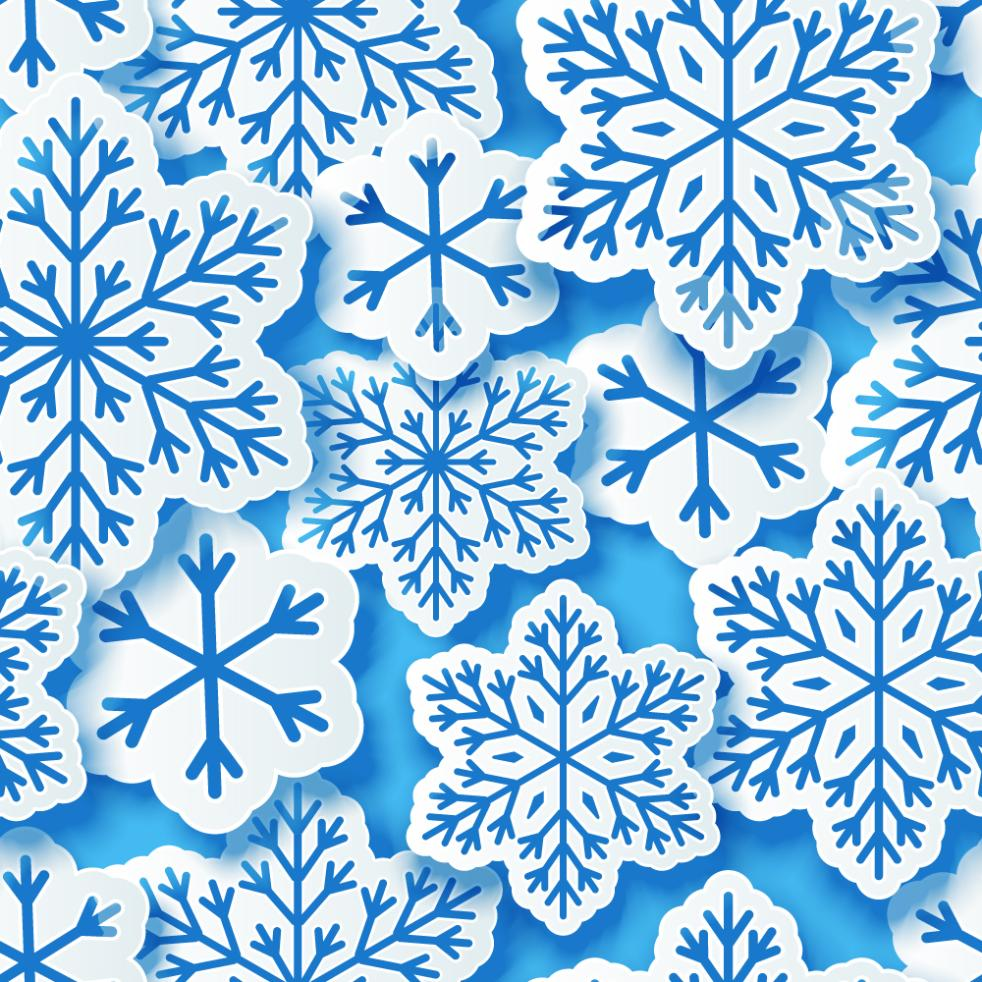 Creative Sense Snowflakes Seamless Background Vector