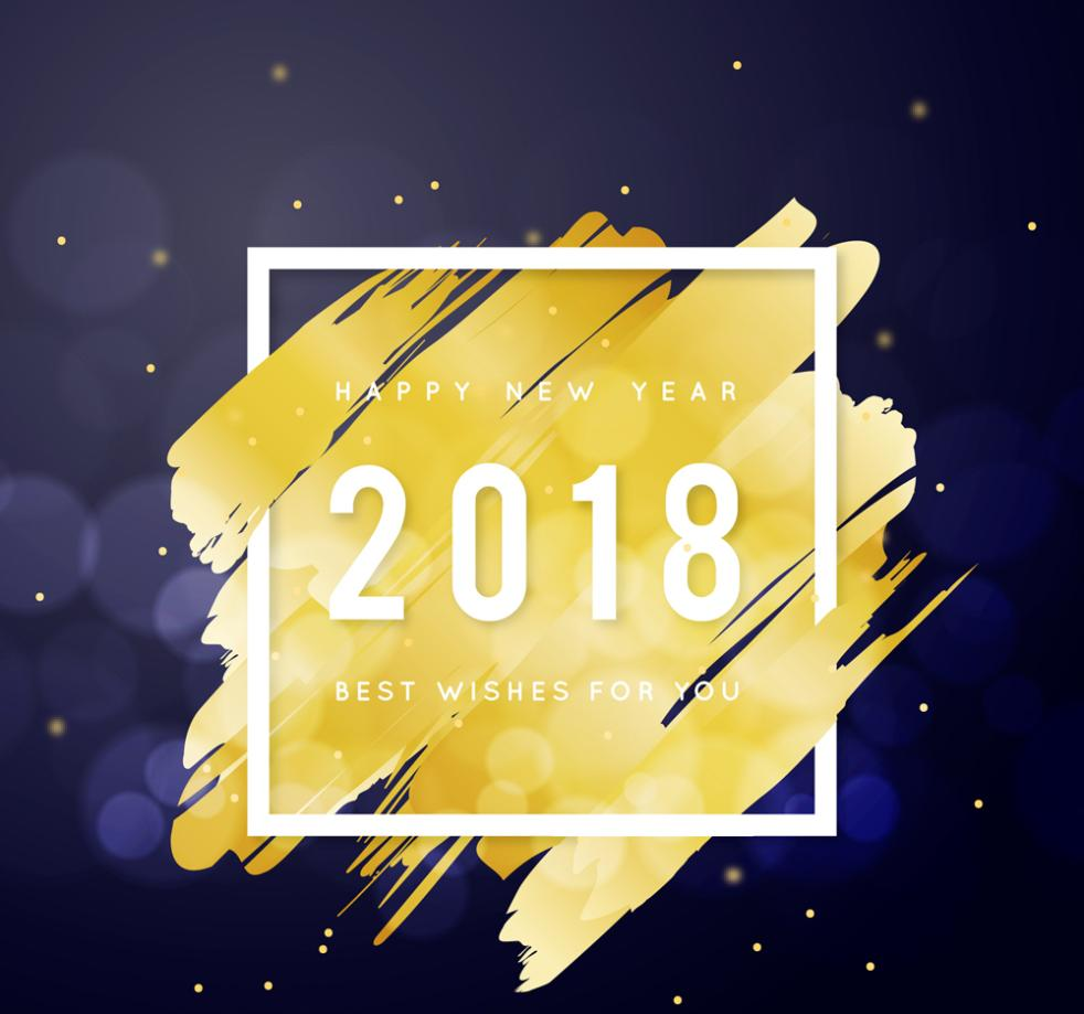 Gold Ink 2018 Cards Vector
