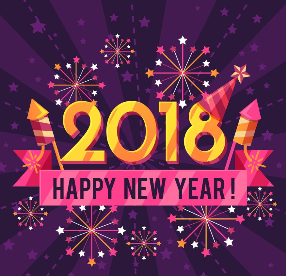 2018 Color Card For Fireworks Vector