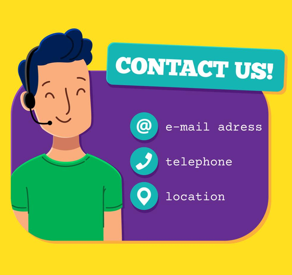 Creative Male Customer Service And Contact Design Vector