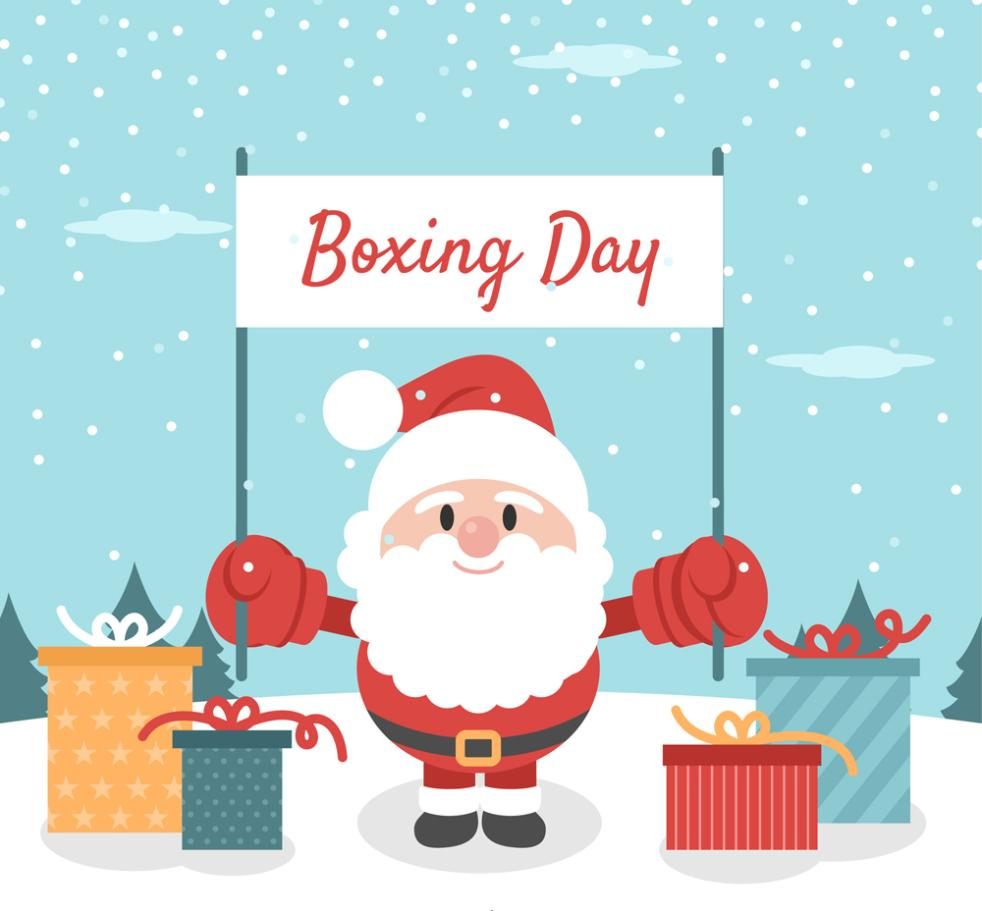 Lovely Boxing Day Santa Claus Vector