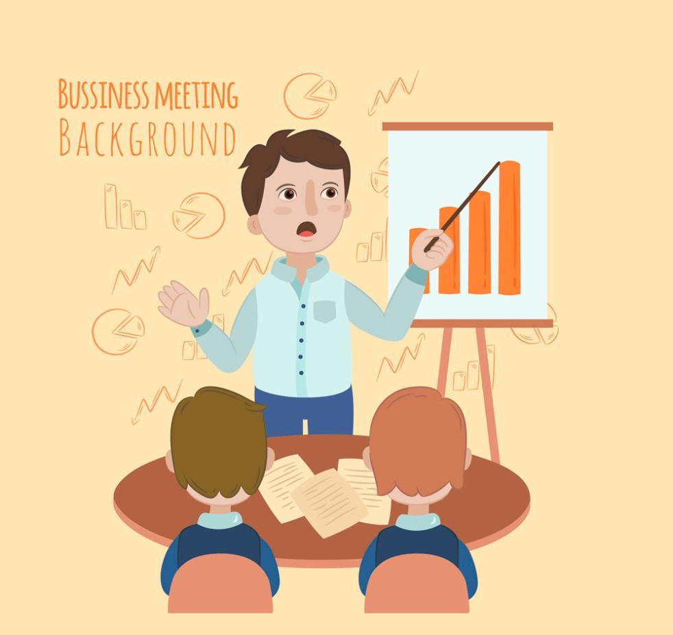 Creative Business Presentation Meeting Vector