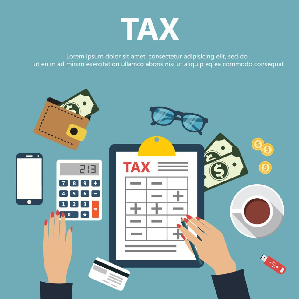 Creative Accounting Desktop Items Illustrations Vector