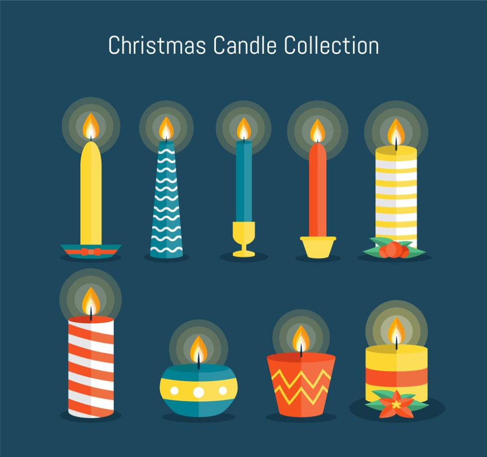 9 A Christmas Candle Is A Kind Of Color Vector