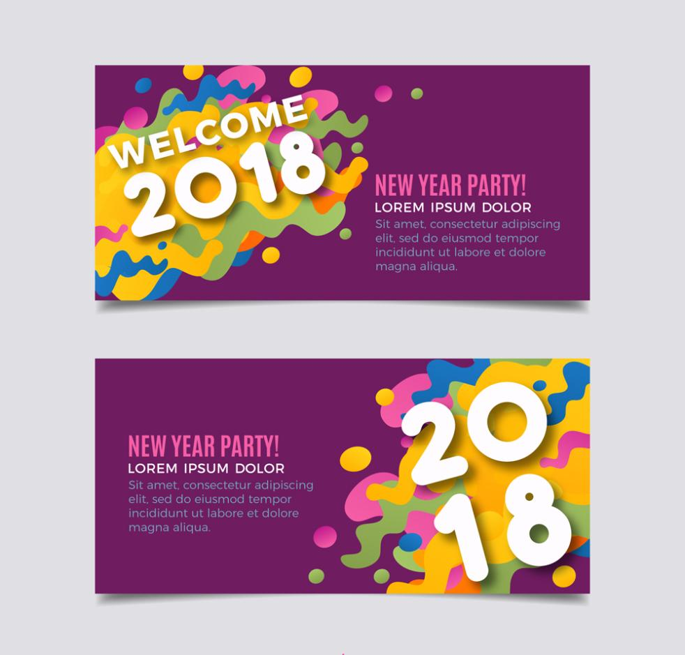 2 Or More Creative Watercolor Ink Banner In 2018 Vector