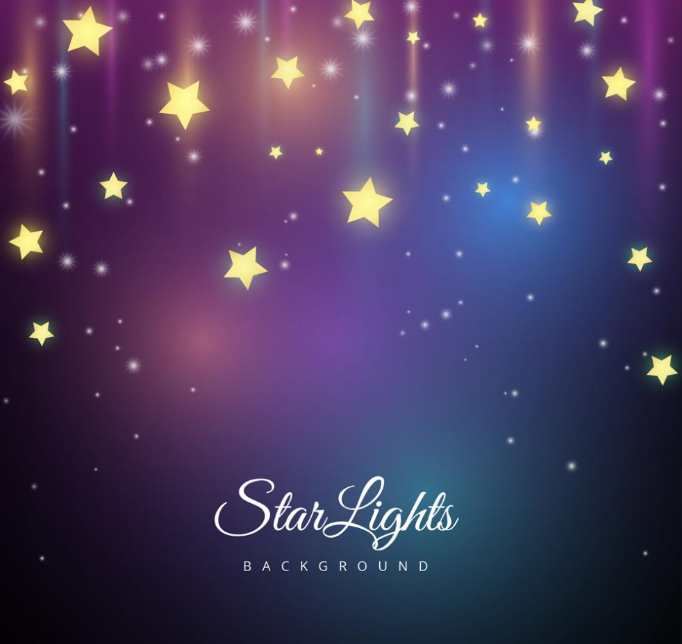 Bright Stars Background Vector