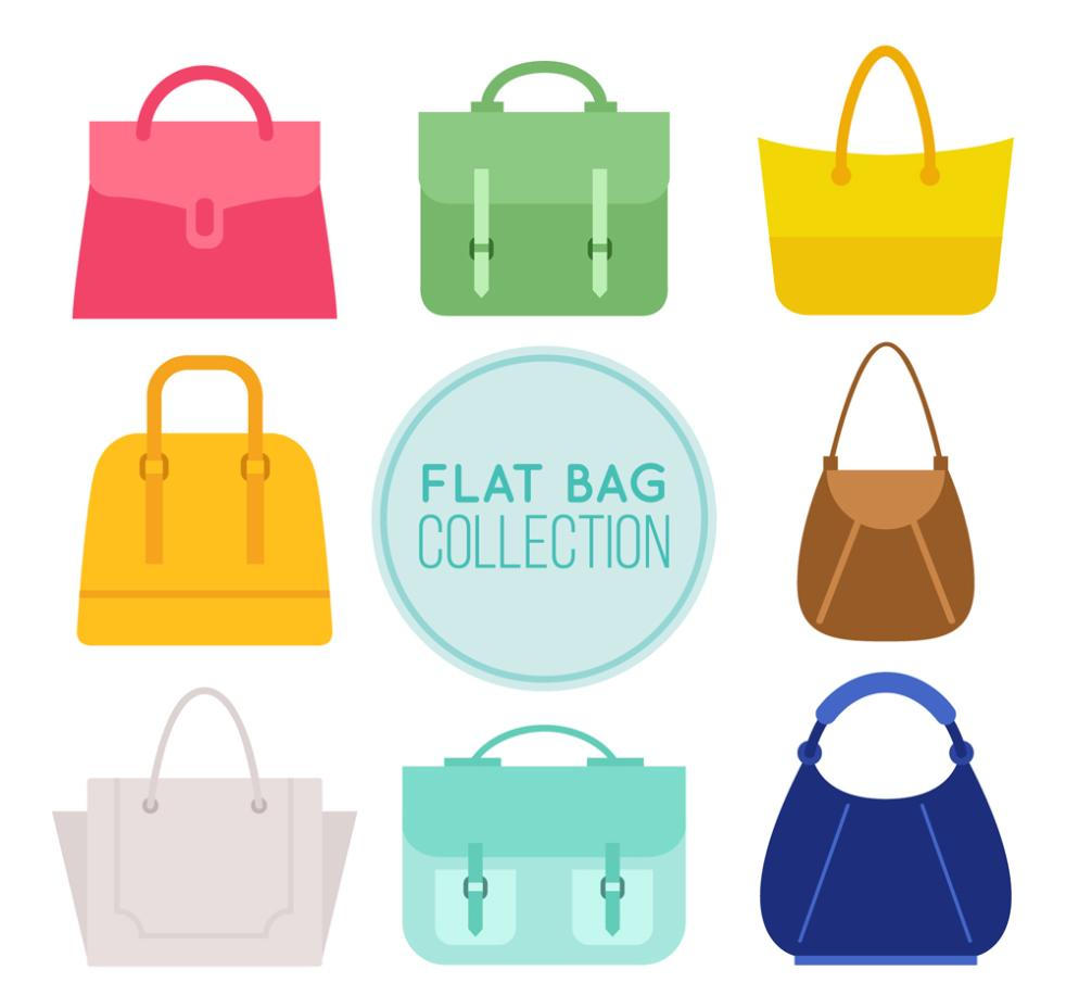 8 The Flat Bag Designs Vector