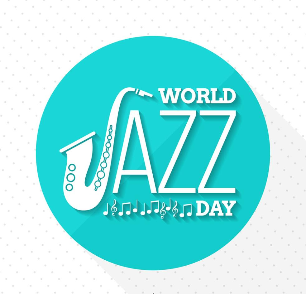 Delicate International Jazz Day Greeting Card Vector