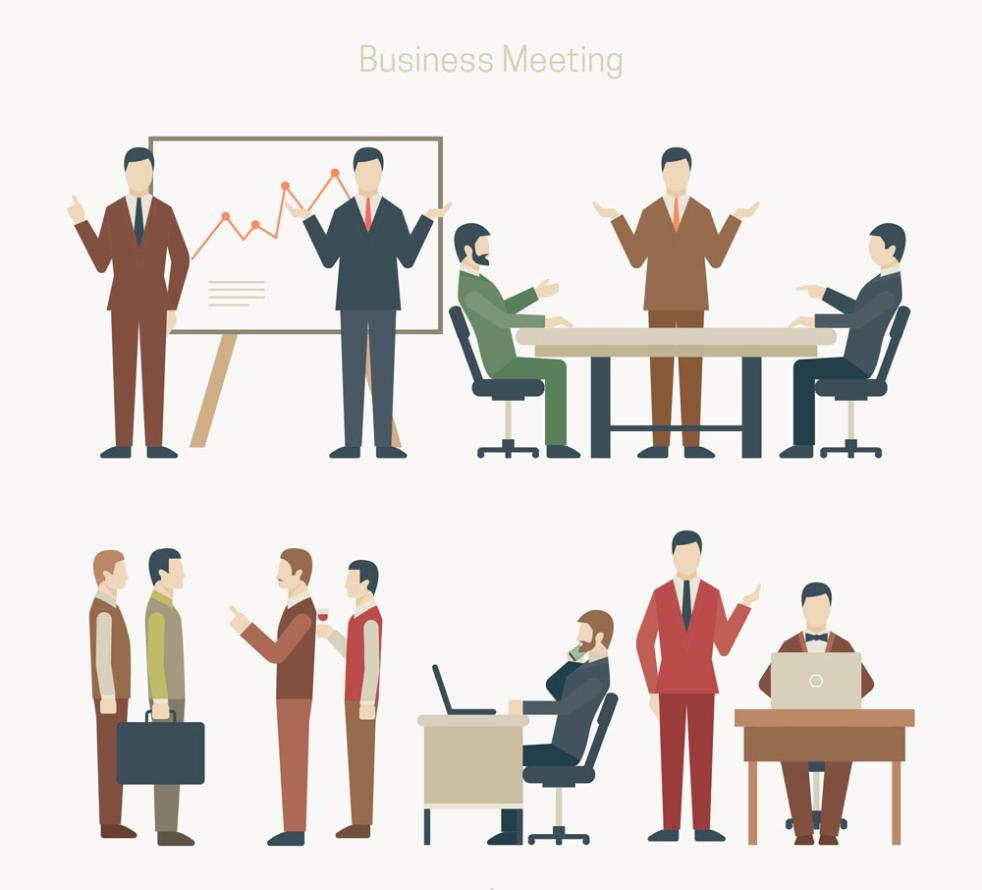 12 Creative Business Man Vector